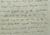 14. Orosz Károly hadnagy, tüzérségi felderítő levele anyjához, özv. Orosz Lajosné br. Kemény Annához