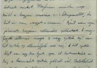 2. Orosz Károly önkéntes hadapród levele anyjához, özv. Orosz Lajosné br. Kemény Annához