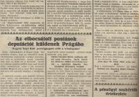 A Kassai Újság és a Magyar Hírlap újságcikke az elbocsátott kassai postások küldöttségéről