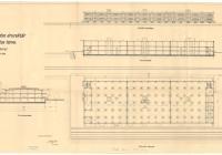 Emeletes áruraktár terve, 1934 (Magyar Nemzeti Levéltár Országos Levéltára Z863-74d-70t)