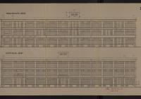 Az F.3. számú raktárépület medence és közút felőli homlokzati rajza, 1940 (Magyar Nemzeti Levéltár Országos Levéltára Z863-73d-63t)