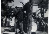Somogyi Ferenc nyilvános kivégzése a község piacterén