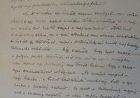 Szilassy Béla 1918. december 30-án írt levele