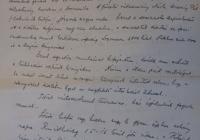 Szilassy Béla 1919. január 9-én írt levele