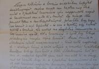 Szilassy Béla 1919. július 23-án írt levele