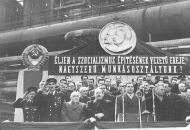 1950: Szovjet szakemberek a Sztálin Vasmű építésén
