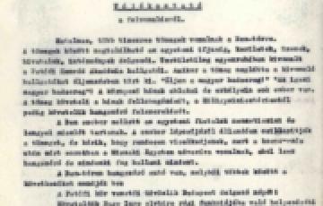 0000: Ügyeleti jelentések 1956 októberéből