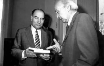 2019: François Mitterrand elnök és Illyés Gyula találkozása 1982. július 9-én